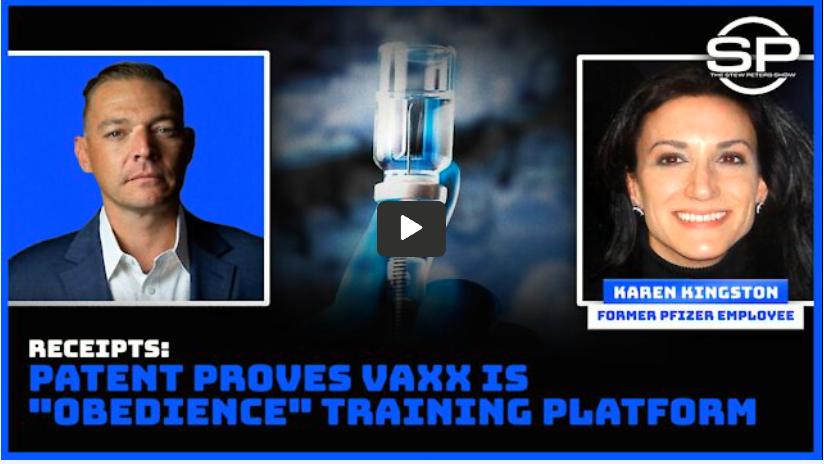 Stew Peters proves vaxx is training platform